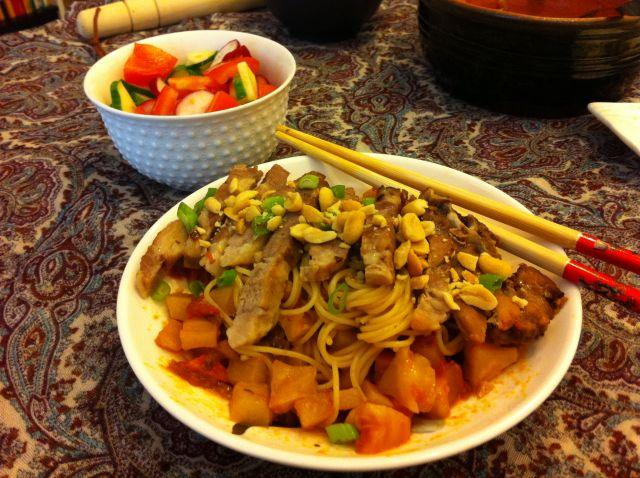 Rezanci s povrćem ivratinom