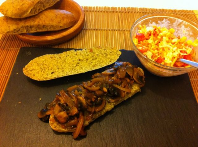 Roštilj sendvič s gljivama