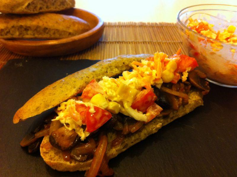 Roštilj-sendvič sa gljivama