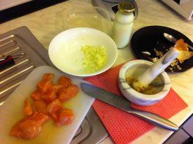 usitniti sastojke