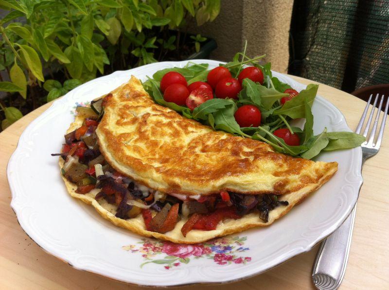 Omlet 4:1 spovrćem