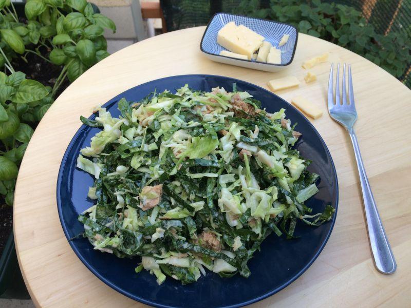 Keto salata stunom