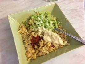 Salata od slanutka_prije miješanja