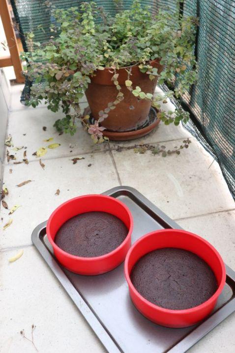 čokoladna torta s kikirikijem_hlađenje