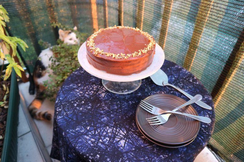 čokoladna torta s kikirikijem_posluženo