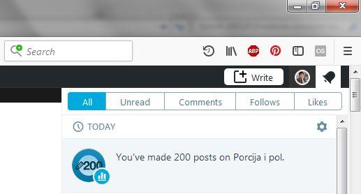 200 posts on Porcija i pol_180228