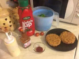 Burger od graha i sojinih komadica_dodaci