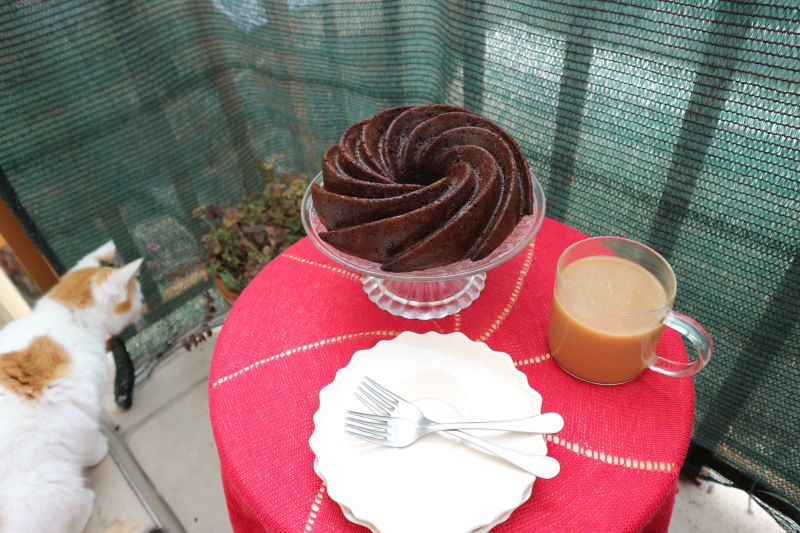 Kakao kuglof s tikvicom_posluzeno