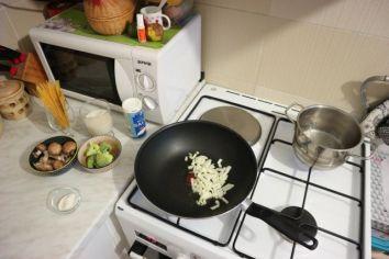 Kremasta tjestenina s gljivama_sve