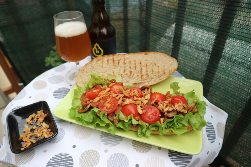 Ljuti sendvic sa sojinim odreskom_sve