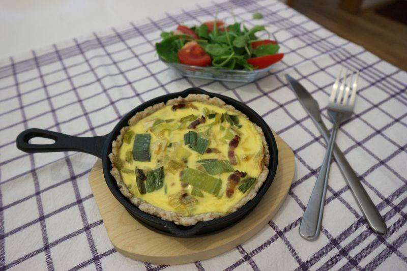 Pita od jaja (quiche) sa porilukom išpekom