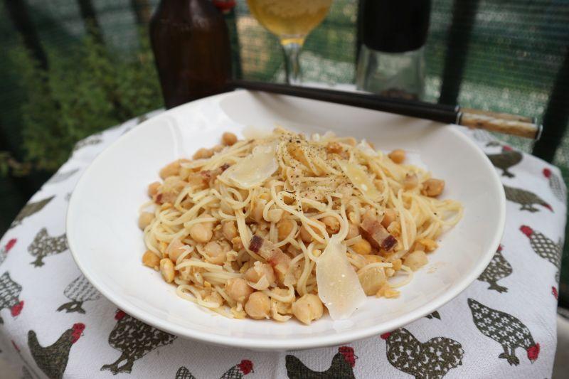 Špageti sa slanutkom (išpekom!)