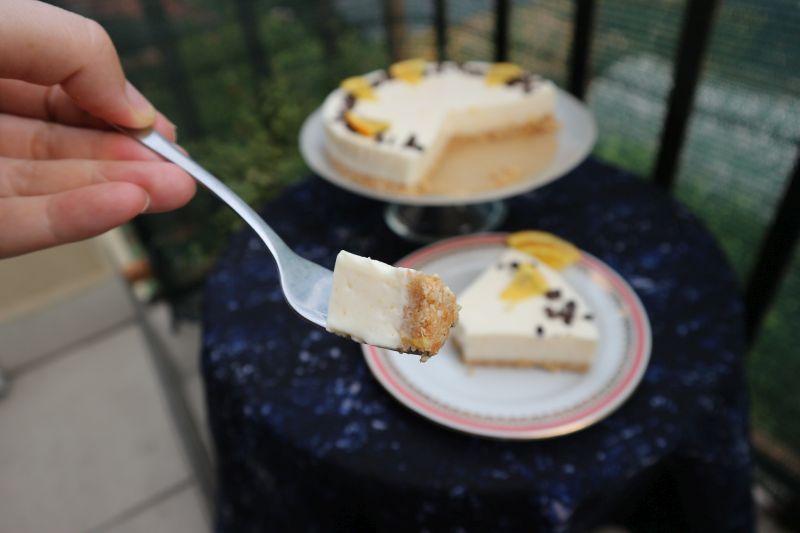 Orange cheesecake_bite