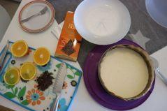 Orange cheesecake_decor