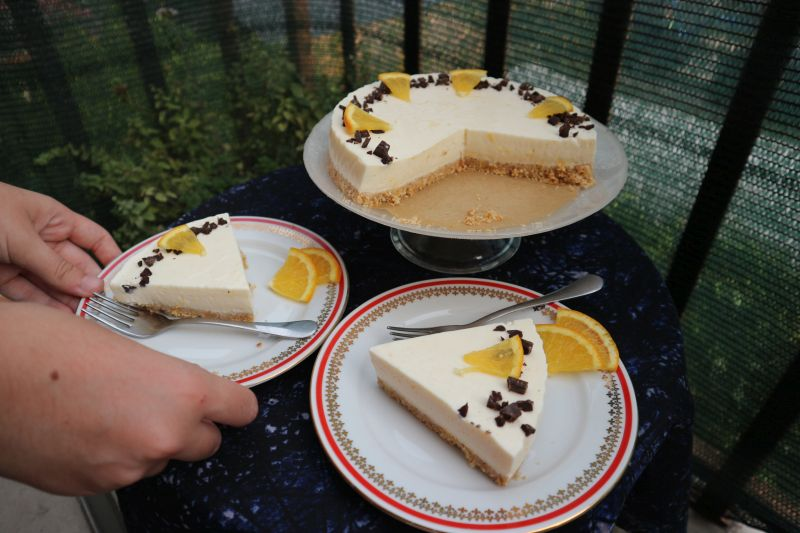 Orange cheesecake_serve