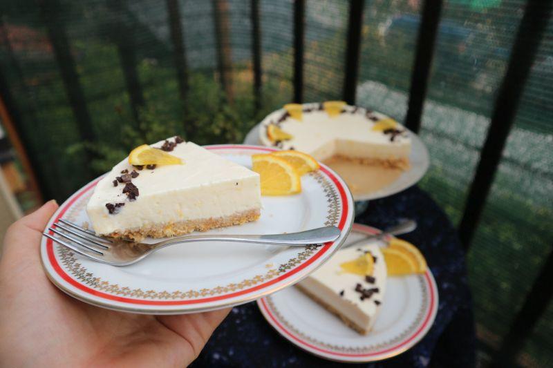 Orange cheesecake_slice2