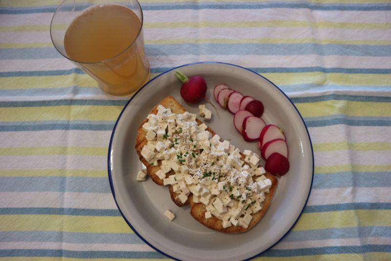Lazna salata od jaja_posluzeno