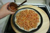 Pizza sa zapecenim grahom_grah