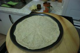 Pizza sa zapecenim grahom_polupečeno
