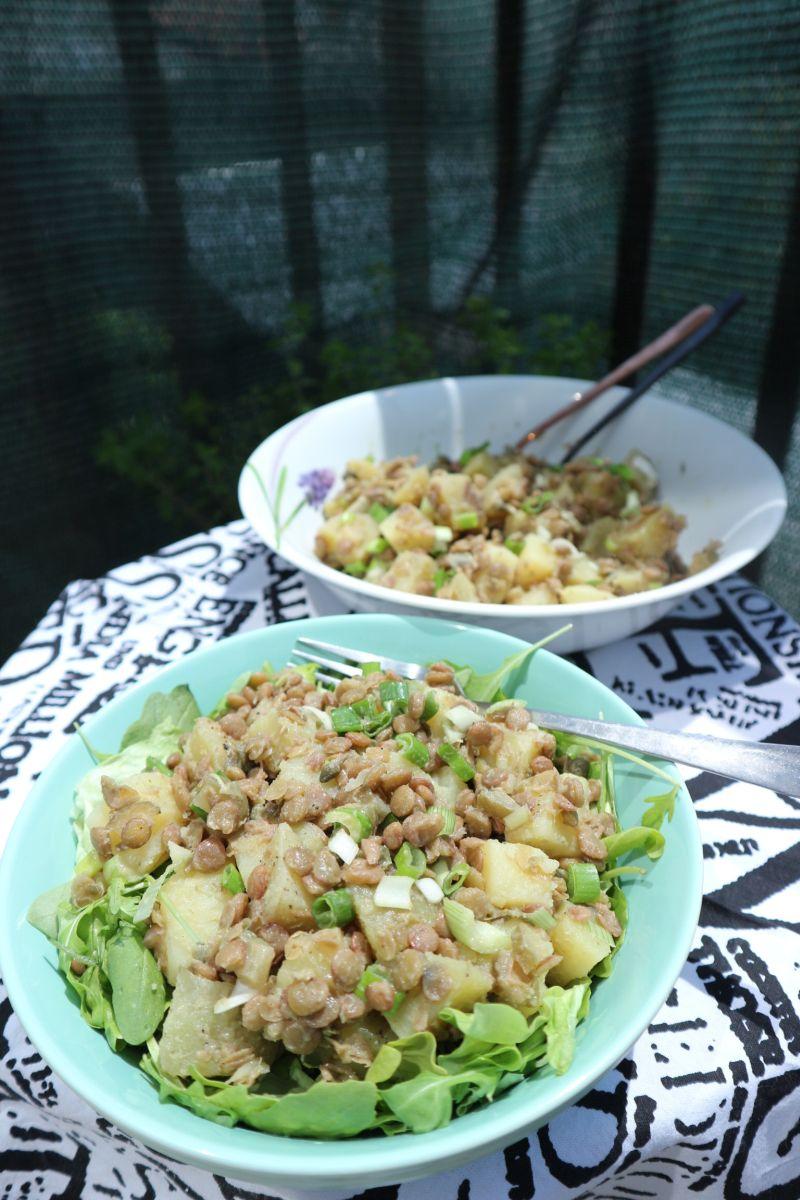 salata od krumpira i leće_posluzeno
