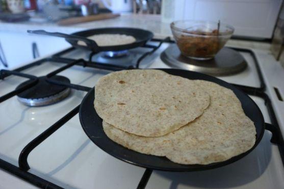 Fajitas sa sojinim odreskom_tortilje2